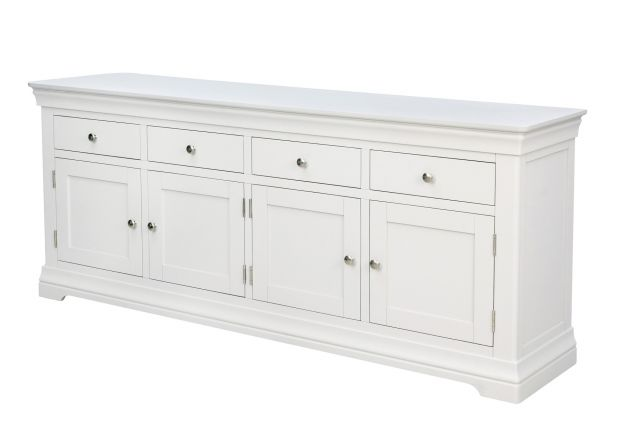 Toulouse 200m Large White Painted Sideboard