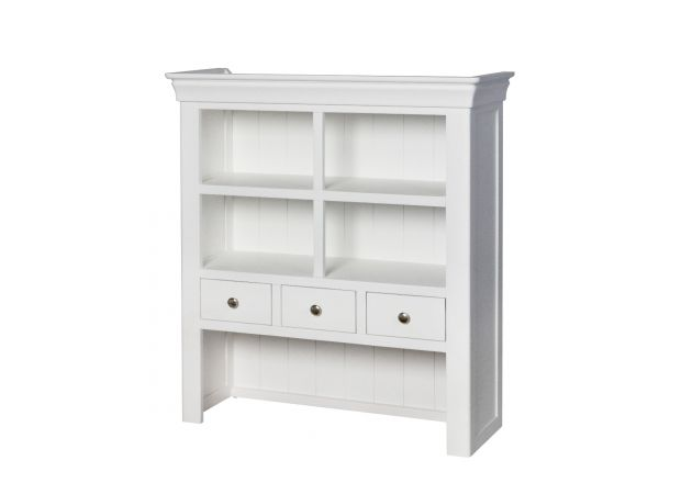 Toulouse 100cm White Painted Hutch Unit for combining with sideboard