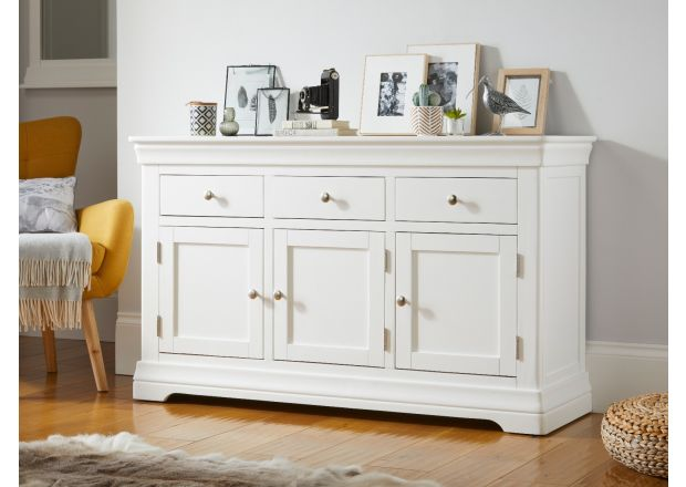 Toulouse 140cm White Painted Large Sideboard with storage drawers
