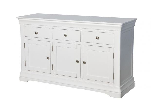 Toulouse 140cm White Painted Large Sideboard