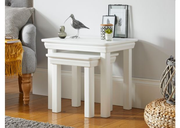 Toulouse White Painted Nest Of Two Table living room furniture