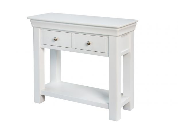 Toulouse White Painted Console Table 2 Drawers