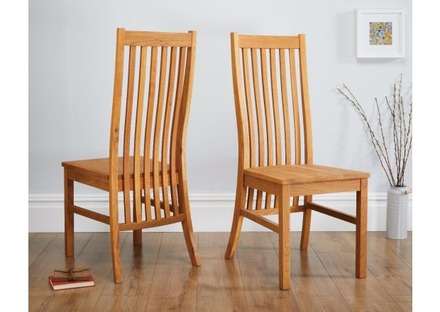 Lichfield Solid Oak Dining Chair with Timber Seat - SUMMER SALE