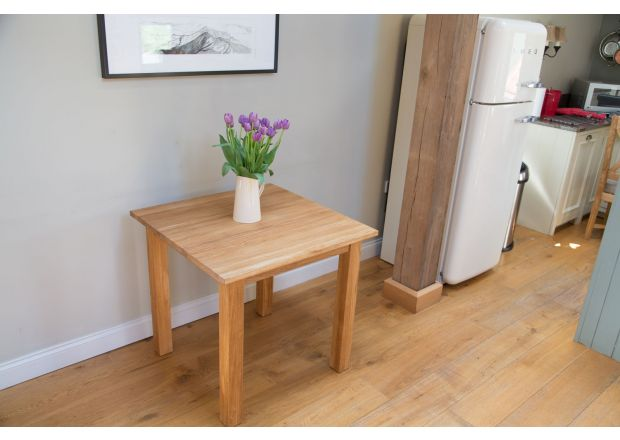 Minsk 2 Seater 80cm x 80cm Small Square Solid Oak Table