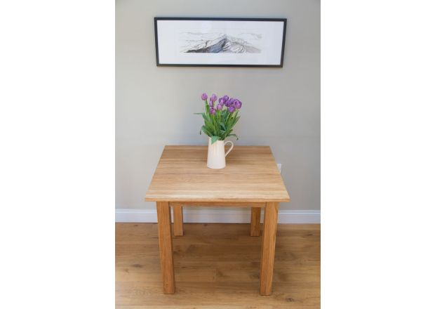 Minsk EU Made 80cm x 80cm Small Square Solid Oak Dining Table