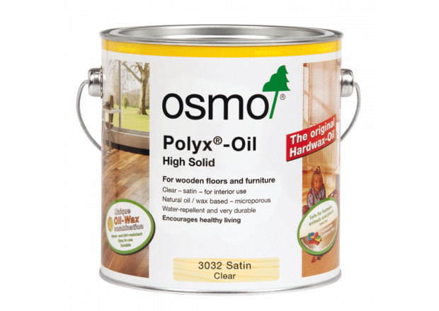 Osmo Polyx Hardwax Oil Original 3032 Clear Satin, 2.5 litre - Free Delivery