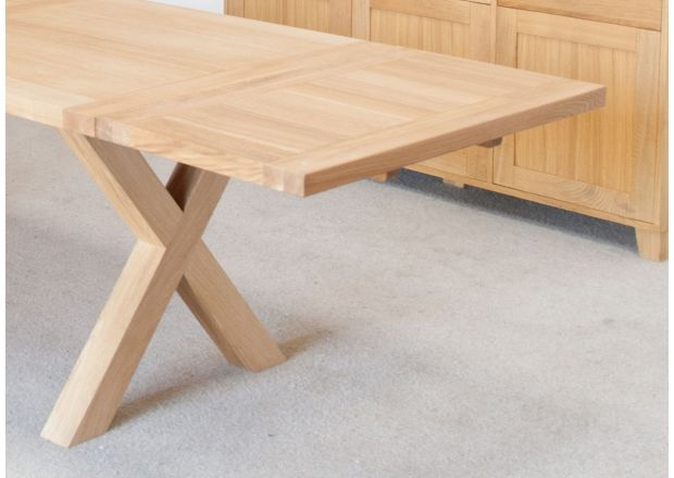 50cm End Extension For 1.5m and 1.8m Provence Cross Leg Table