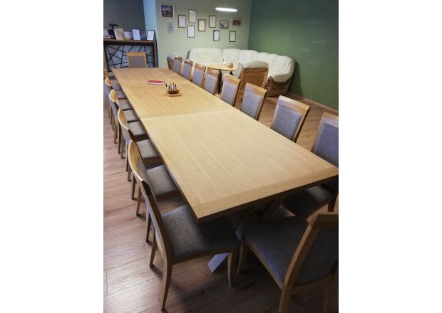 Provence Extra Large 4.5m Cross Leg Oak Dining Table - AUTUMN SALE
