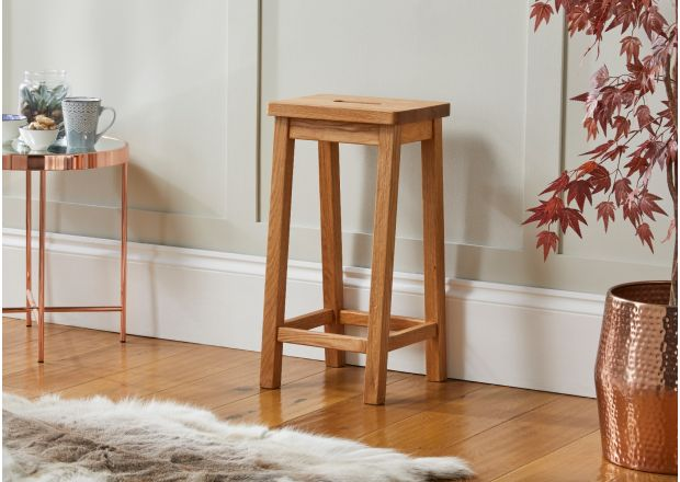 Refectory Solid Oak Kitchen Stool - SUMMER SALE