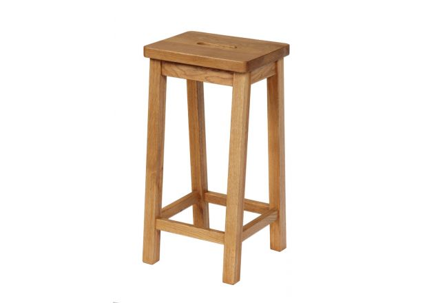 Refectory Solid Oak Kitchen Stool - WINTER SALE