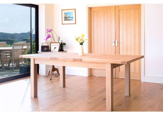 Tallinn 230cm EU Made Extending Oak Dining Table - APRIL MEGA DEAL