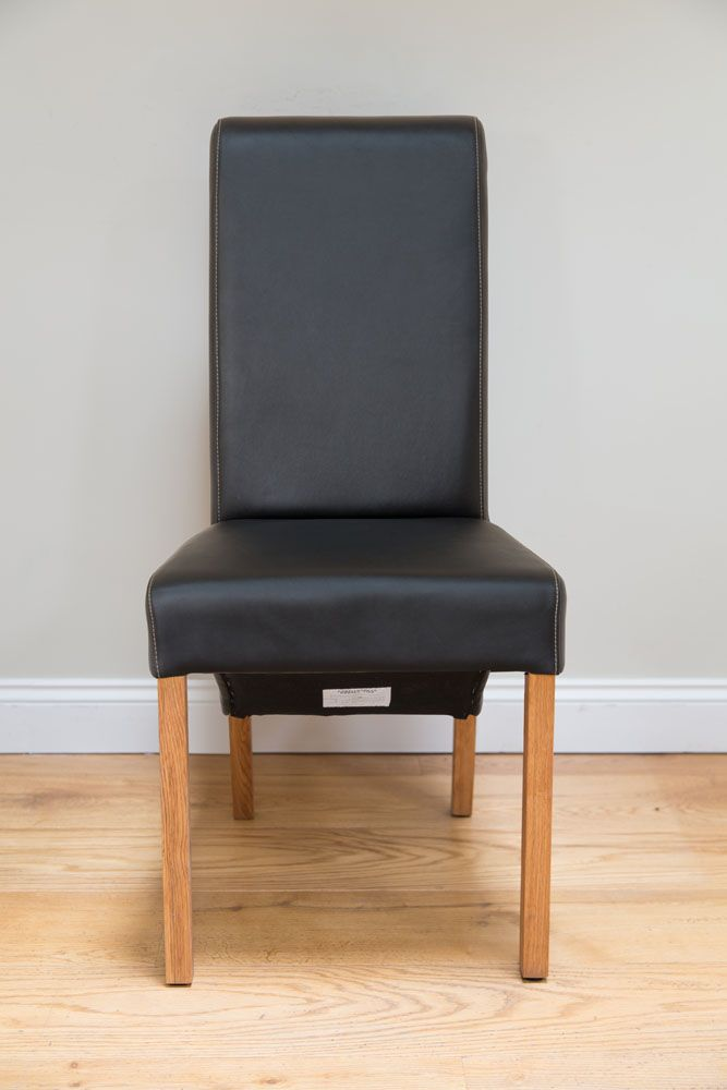 Swell Tuscan Black Leather Scroll Back Dining Chair Autumn Sale Machost Co Dining Chair Design Ideas Machostcouk