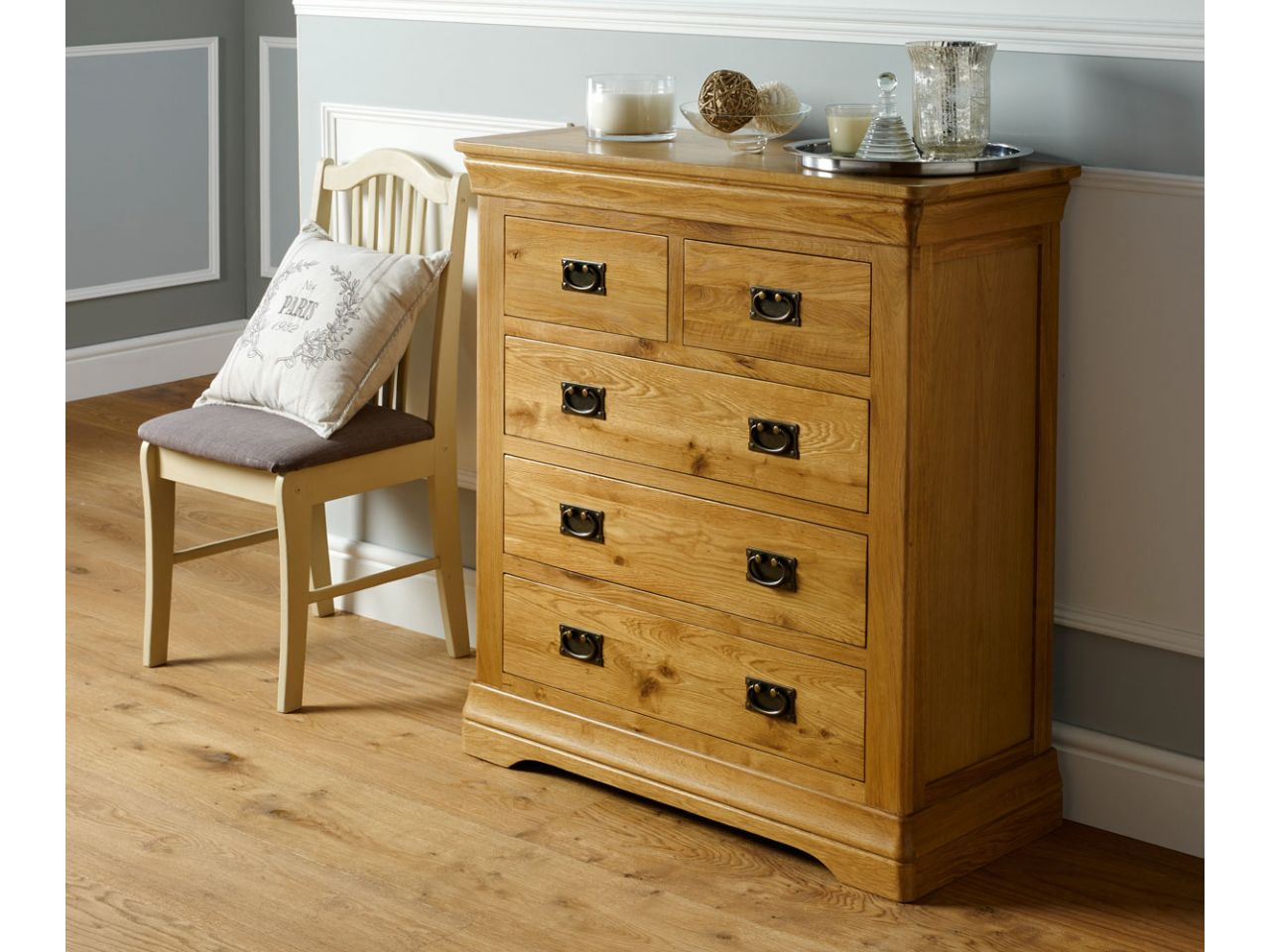 meet dc1cd 363f4 Farmhouse Country Oak 2 Over 3 Chest of Drawers - AUTUMN SALE