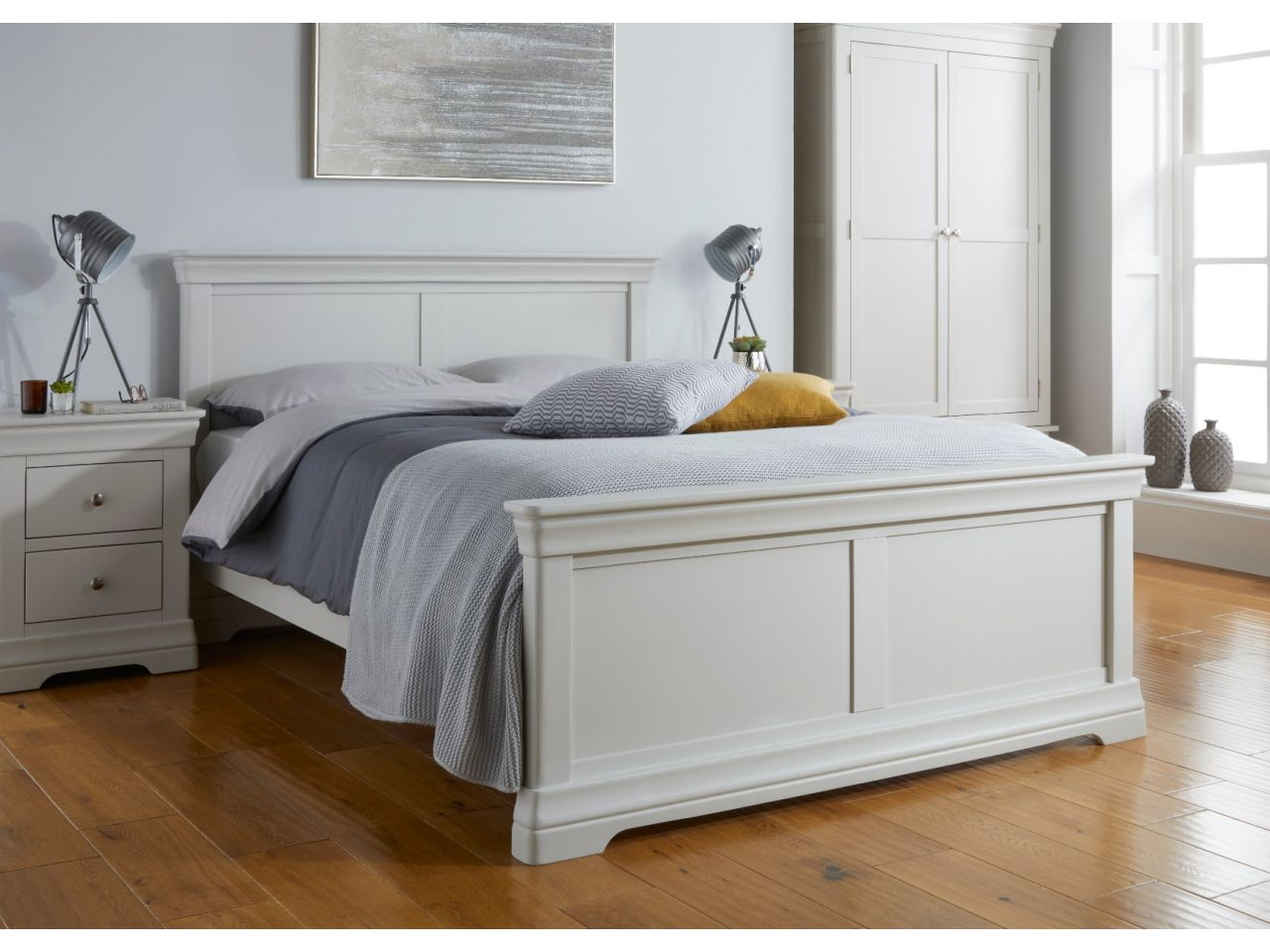 Toulouse Grey Painted Double Bed Free Delivery Top Furniture