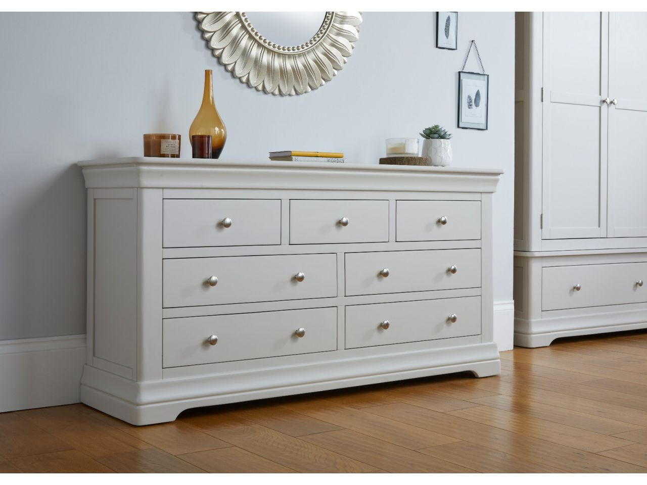 Toulouse Grey Painted Large 3 Over 4 Chest of Drawers ...