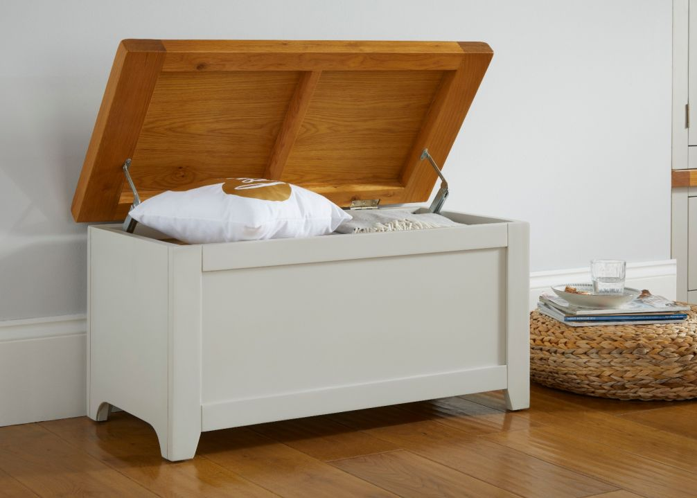 Cheshire Grey Painted Oak Blanket Box