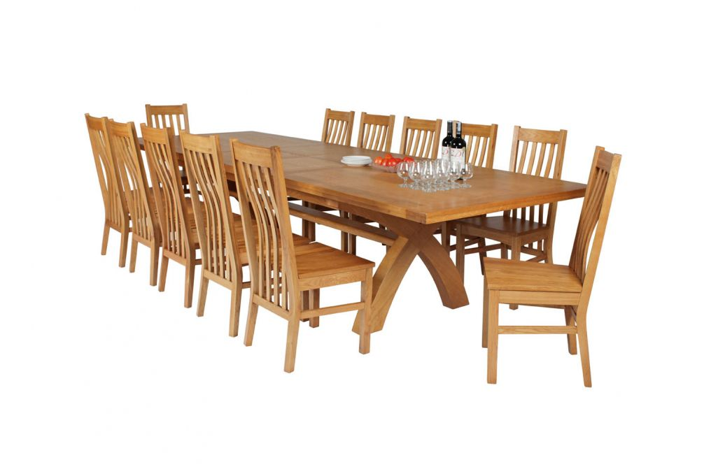 Double Cross Back Dining Chair