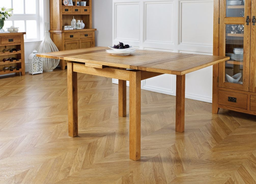 Extending Oak Dining Table 90cm 160cm Free Delivery Top Furniture
