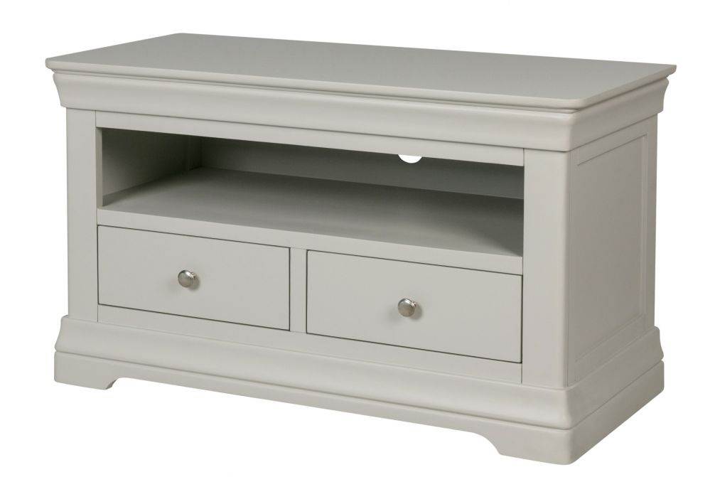 Toulouse Grey Painted TV Unit 2 Drawers