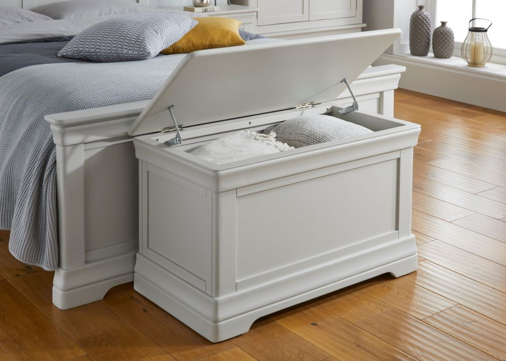 Toulouse Grey Painted Blanket Box bedroom storage