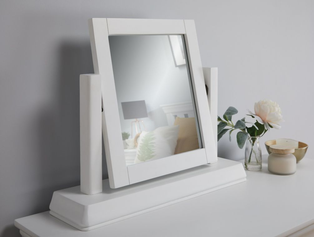 Toulouse White Painted Dressing Table Mirror Free Delivery Top Furniture