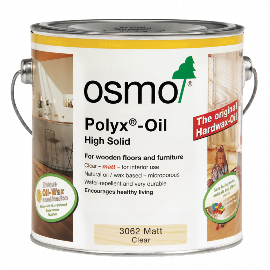 Osmo Polyx Hardwax Oil Original 3062 Clear Matt, 750ml - Free Delivery