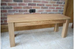 95cm Baltic Premium Solid Oak Bench