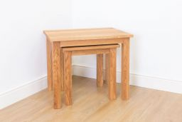 Baltic Solid Oak Nest of 2 Tables