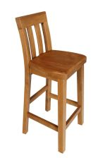 Billy Solid Oak Timber Seat Wooden Kitchen Stool
