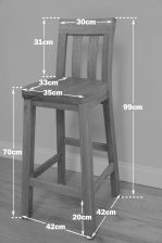 Billy Solid Oak Timber Seat Wooden Stool