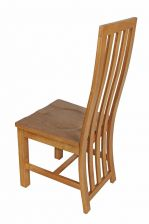 Dorchester Slatted Back Oak Dining Chair Timber Seat