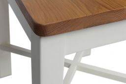 Grasmere Cross Back Cream Painted Chair With Solid Oak Seat