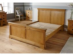 Farmhouse Country Oak Double Bed 4ft 6 inches Bedroom Furniture