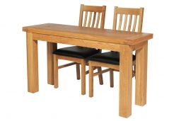 Lichfield Narrow Flip Top Oak Extending Table 140cm x 45cm