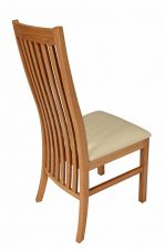 Lichfield Cream Leather Solid Oak Dining Room Chairs
