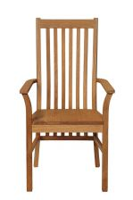 Lichfield Solid Oak Carver Dining Chair