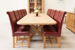 Provence 2.4m to 3.4m Double Extending Cross Table Oval End