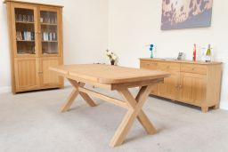 Provence 2.8m Double Butterfly Extending Cross Leg Table Oval End