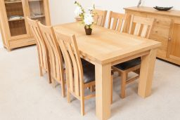 Riga 1.8m Oak Dining Table To Seat 8 People