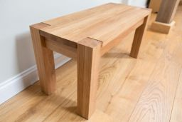 Baltic 200cm Long Solid Oak Premium Bench With Corner Legs
