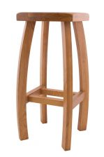 Bali Solid Oak Bar Stool in Standard design