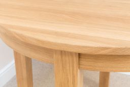 90cm Round Baltic Premium Solid European Oak Dining Table