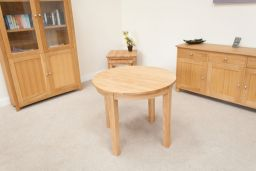 Round Oak Table 90cm Baltic Premium Solid European Oiled Oak Table