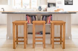 Baltic Solid Oak Kitchen Bar Stool Timber Seat