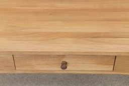 Baltic 120cm x 65cm x 50cm Large Solid Oak Coffee Table With Drawer