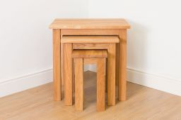 Baltic Solid Oak Nest of 3 Tables