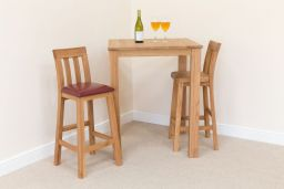 Billy Tall Wooden Bar Stool Solid Oak Timber Seat