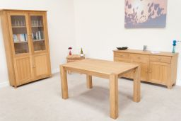 Cambridge 140cm Fixed Oak Dining Table