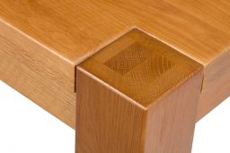 Country Oak 130cm Chunky Corner Leg Square Solid Oak Dining Table