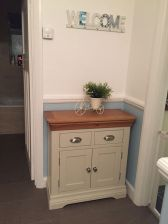 Country Oak Farmhouse 80cm Grey Painted Sideboard